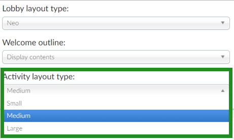Choosing the activity layout type