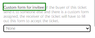 marketing > tickets > select a ticket > edit > custom forms for invitee