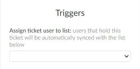 Assigning ticket users to lists