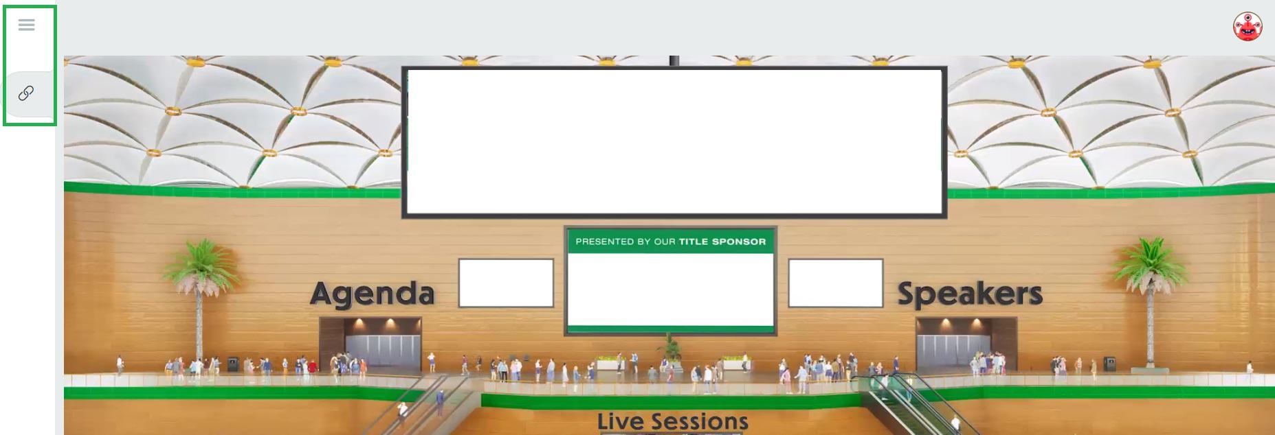 Virtual Lobby menu