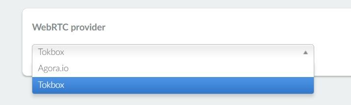 Selecting the webrtc provider