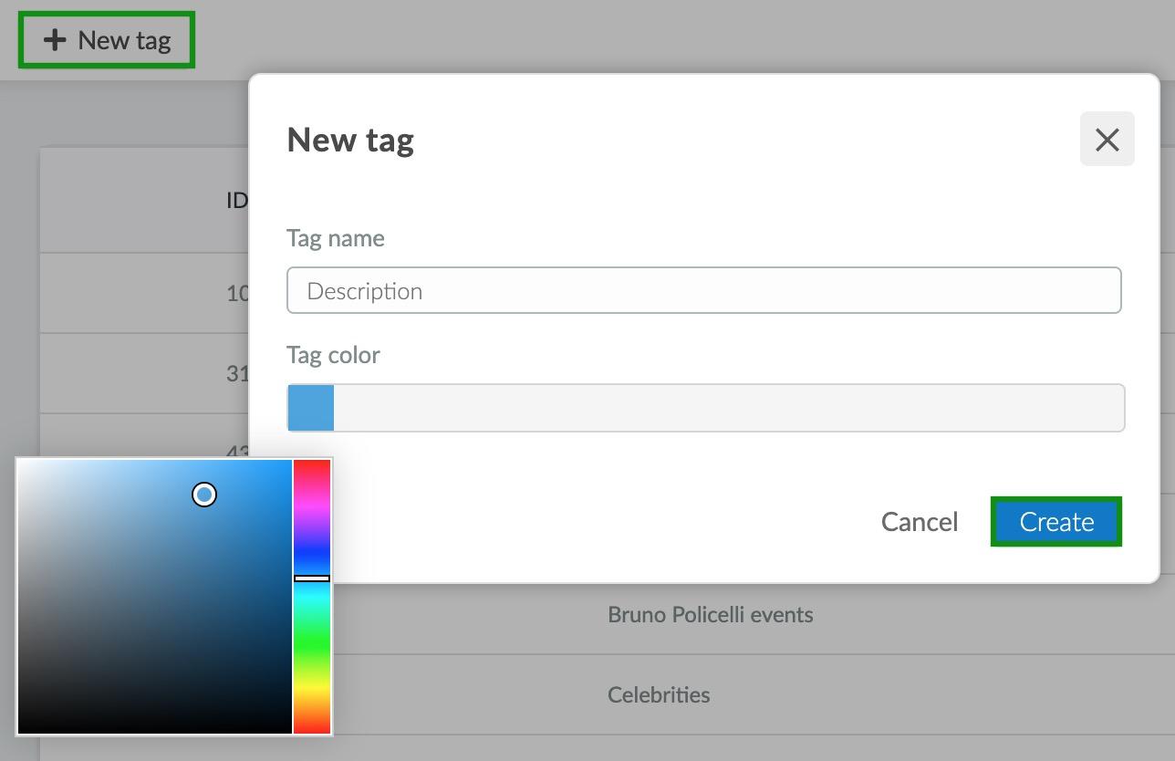 create a new tag