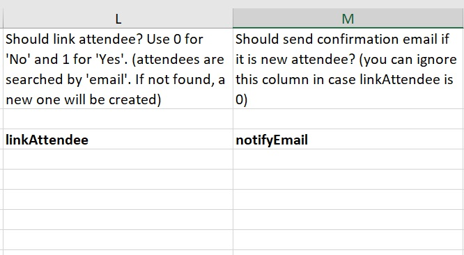 How to send a notification email to speakers