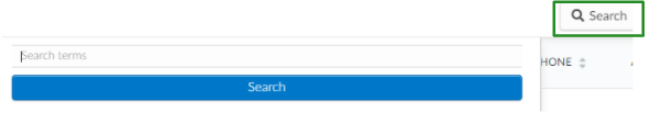 Screenshot of the search button