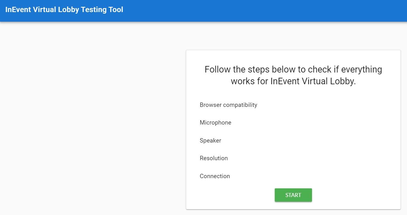 Screenshot of testing tool