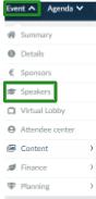 Screenshot of the steps Event > Sponsors
