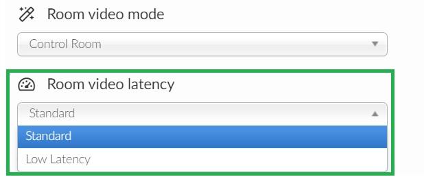 Room video latency