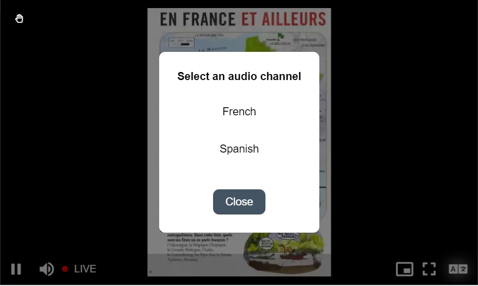 Selecting audio channel