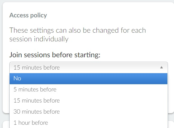 Access policy options