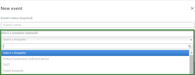Screenshot company level>event> template