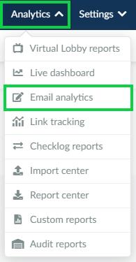 Analytics > Email Analytics