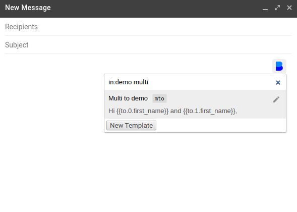 Filter templates in the Autocomplete dialog