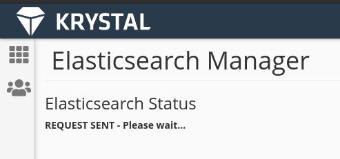 elastic search manager, please wait notice