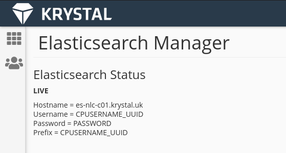 elastic search manager example login details