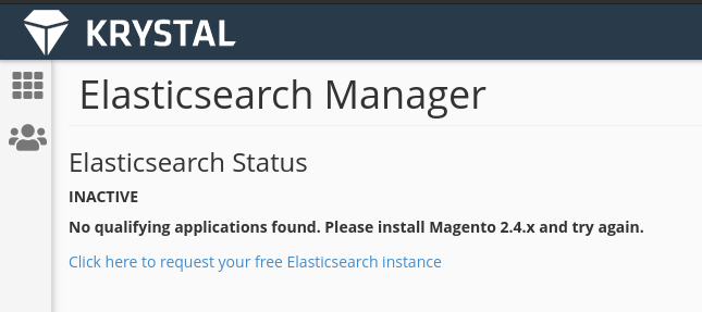 Elastic search manager failed installation