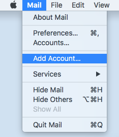 Setting up email on an Apple Mac using Mail - Krystal Hosting