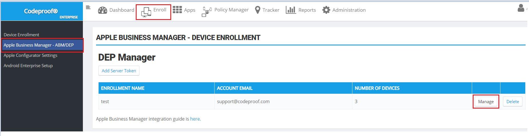 Managing DEP enrolled devices