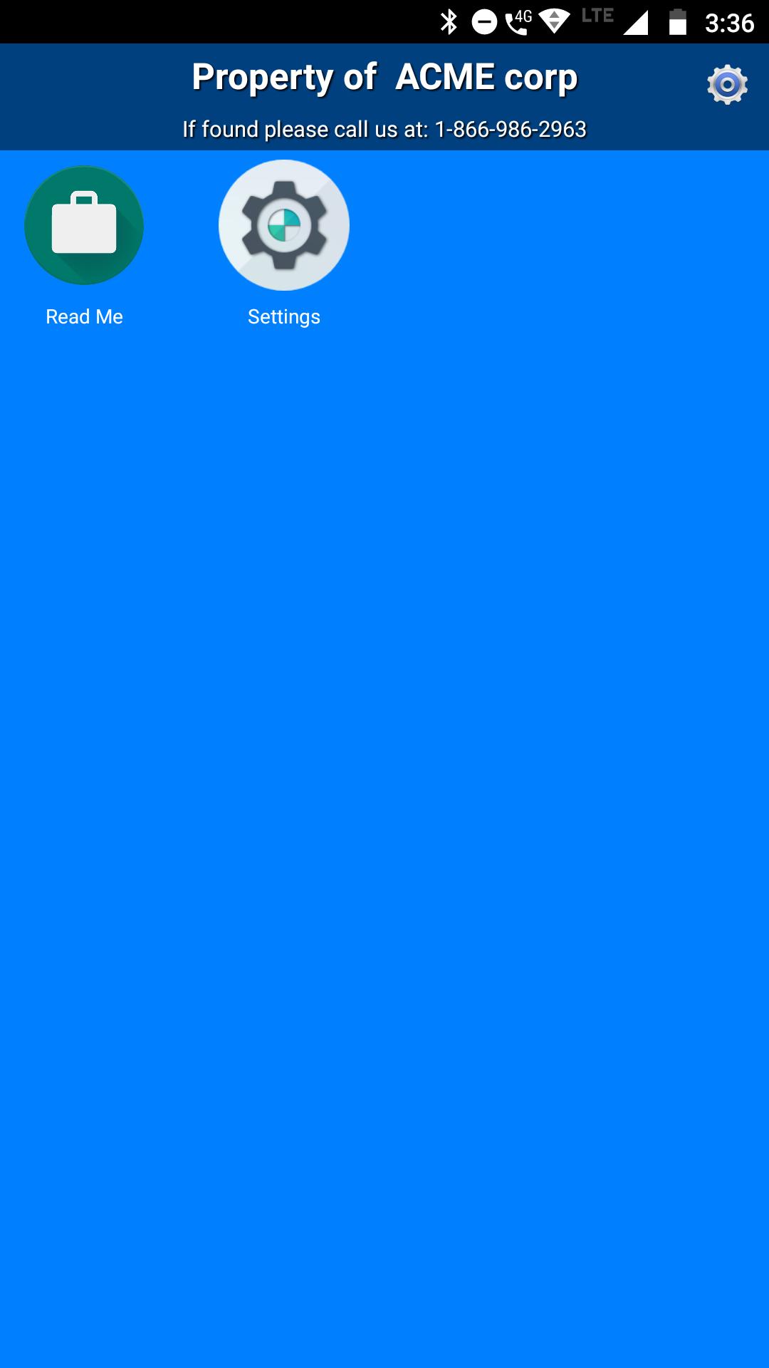 Web App in Kiosk mode