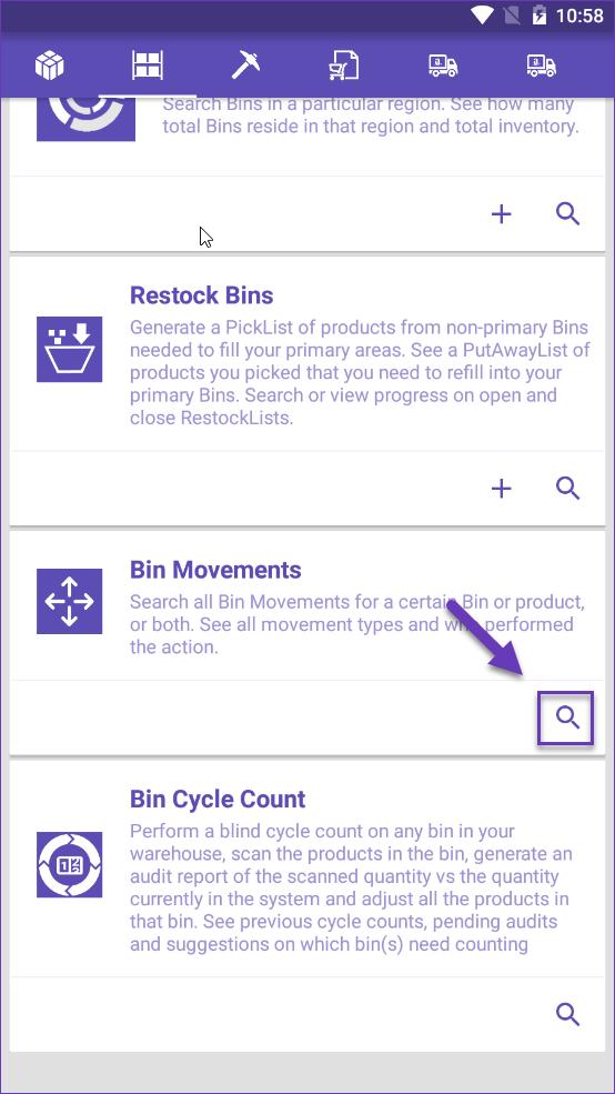 Sellercloud skustack search bin movement