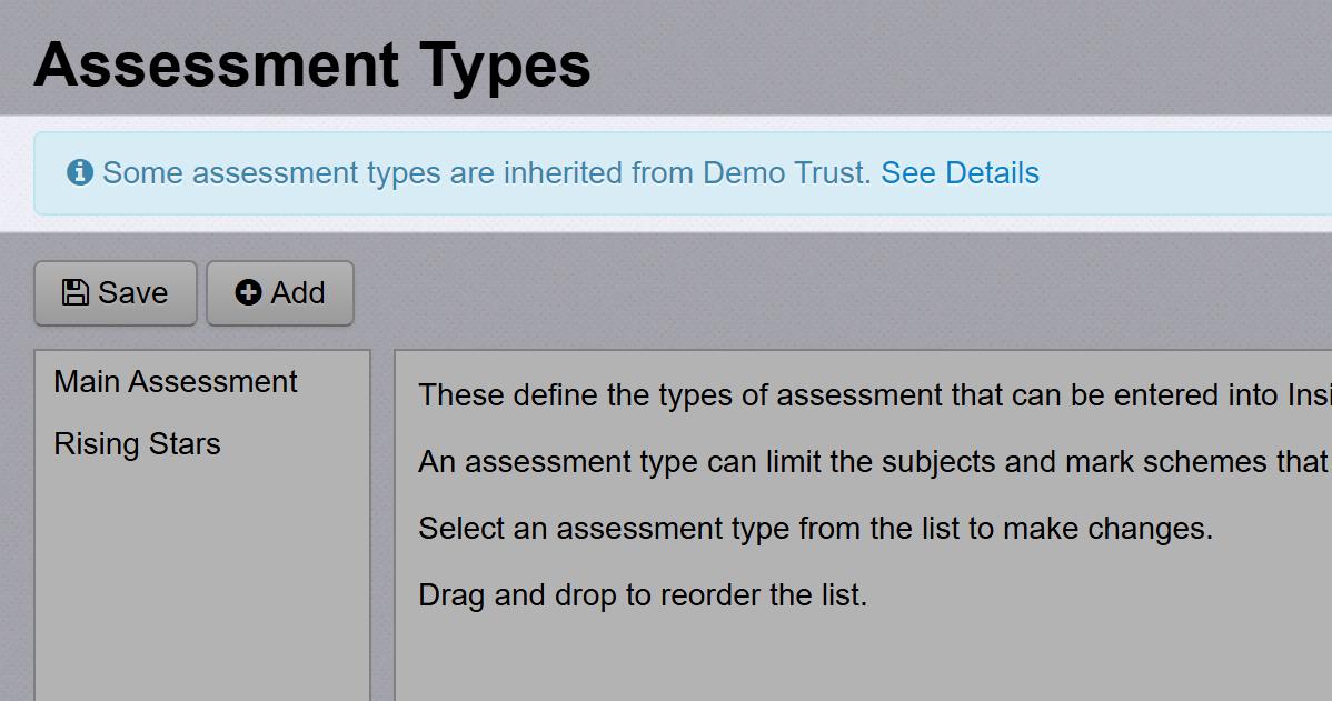 Trust Assessment Types
