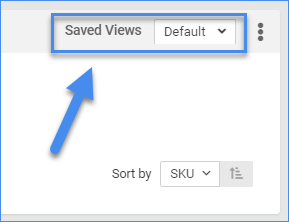 sellercloud manage inventory page saved views