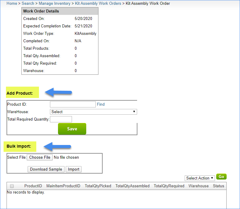 sellercloud kit assembly add or bulk-import kit components