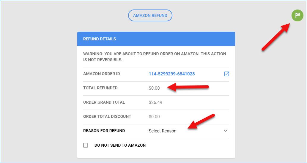sellercloud amazon order refund function