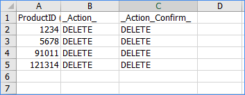 sellercloud delete products bulk update excel template example