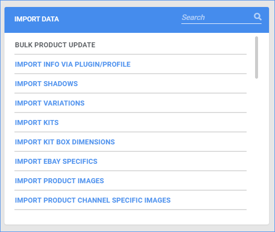 sellercloud import product info
