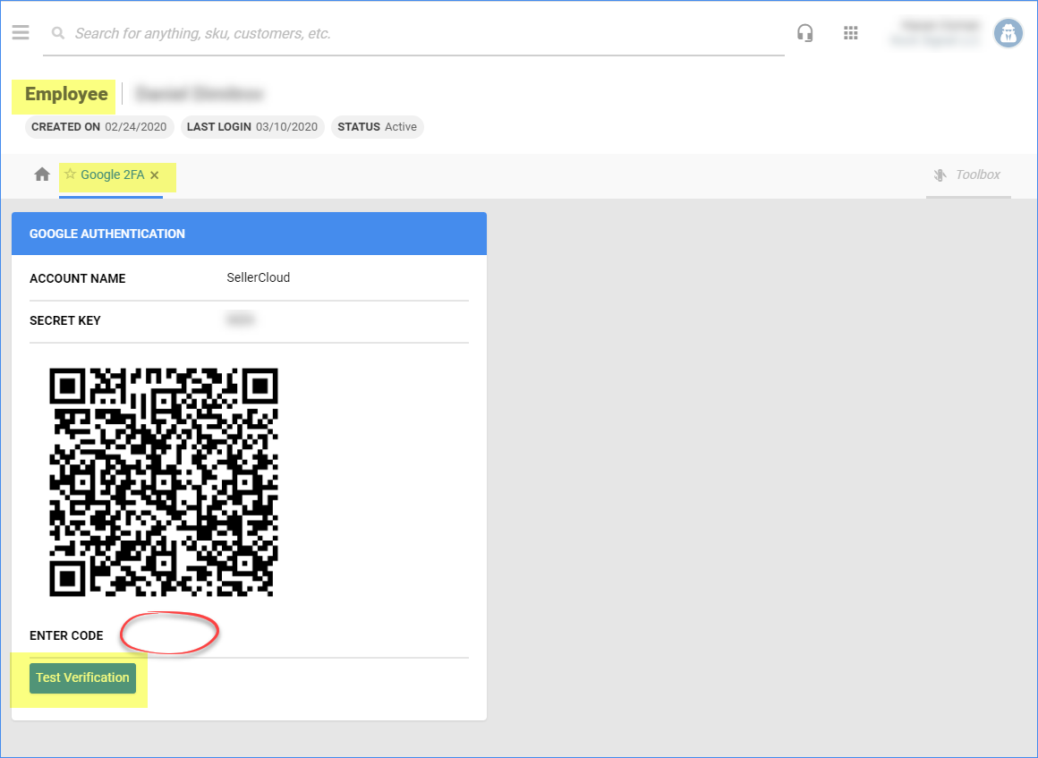 Delta - scan the QR code and type it into the Enter Code field