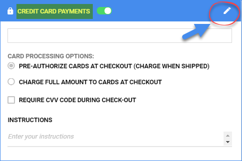 sellercloud credit card payments setup delta interface