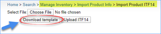 sellercloud download template to import itf-14 barcodes