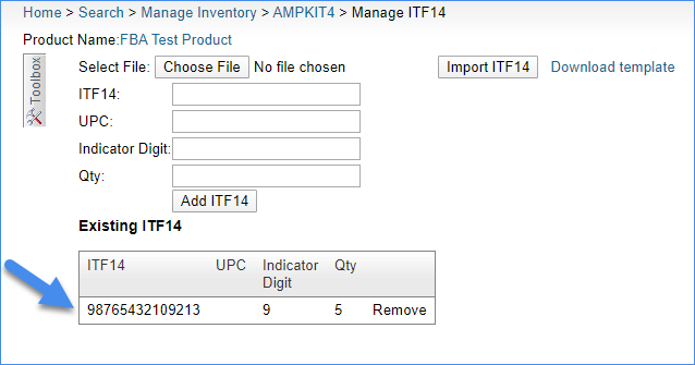 sellercloud product itf14 barcode