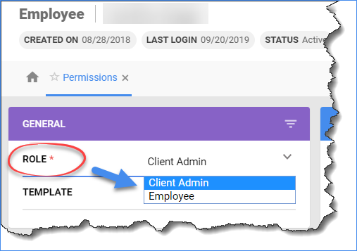 Select Client Admin from the Role dropdown list to grant user full system permissions