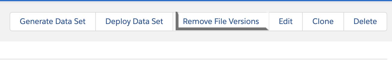 Remove File Versions button