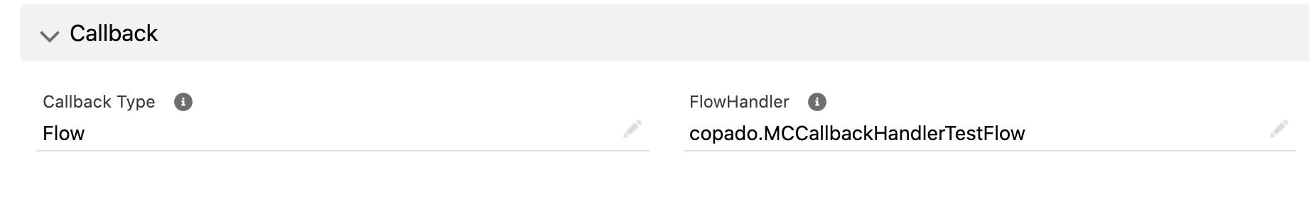 Copado Callback Flow