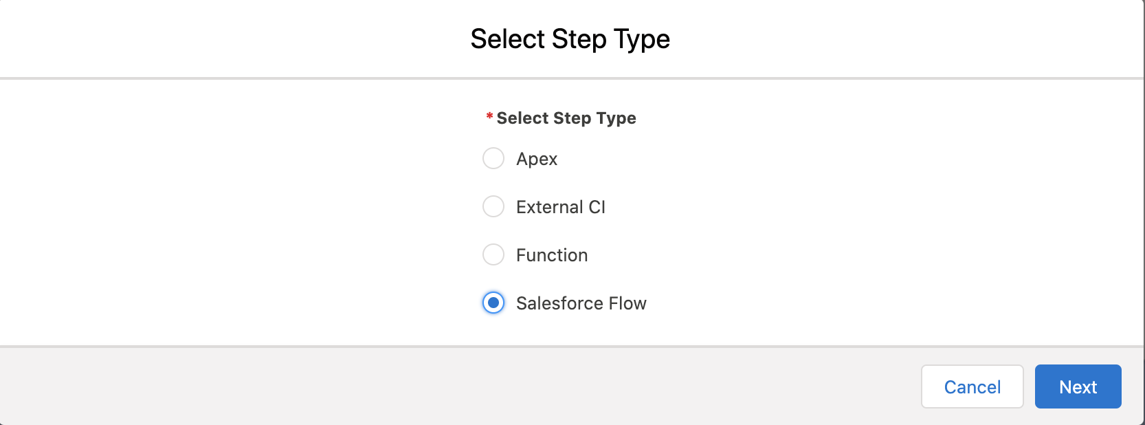 Automation Template steps