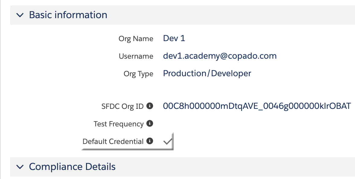 Default Credential