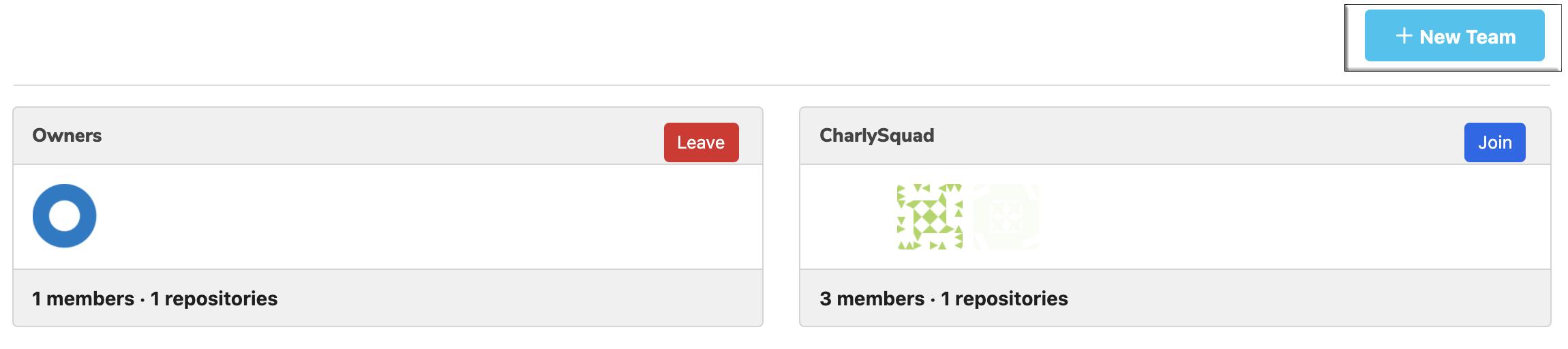Create New Team