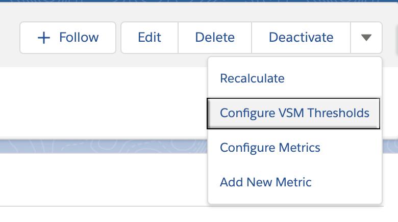 Configure VSM Thresholds button
