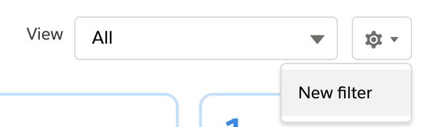 New filter button