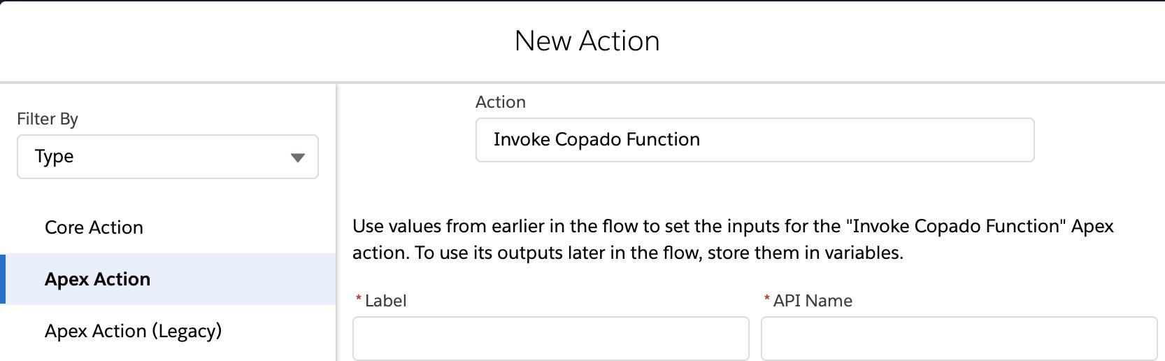 Invoke Copado Function