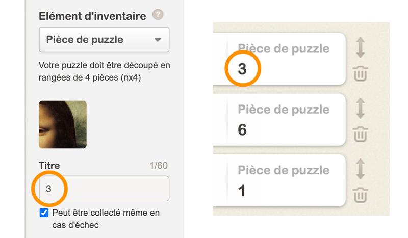 Numérotation des pièces de puzzle