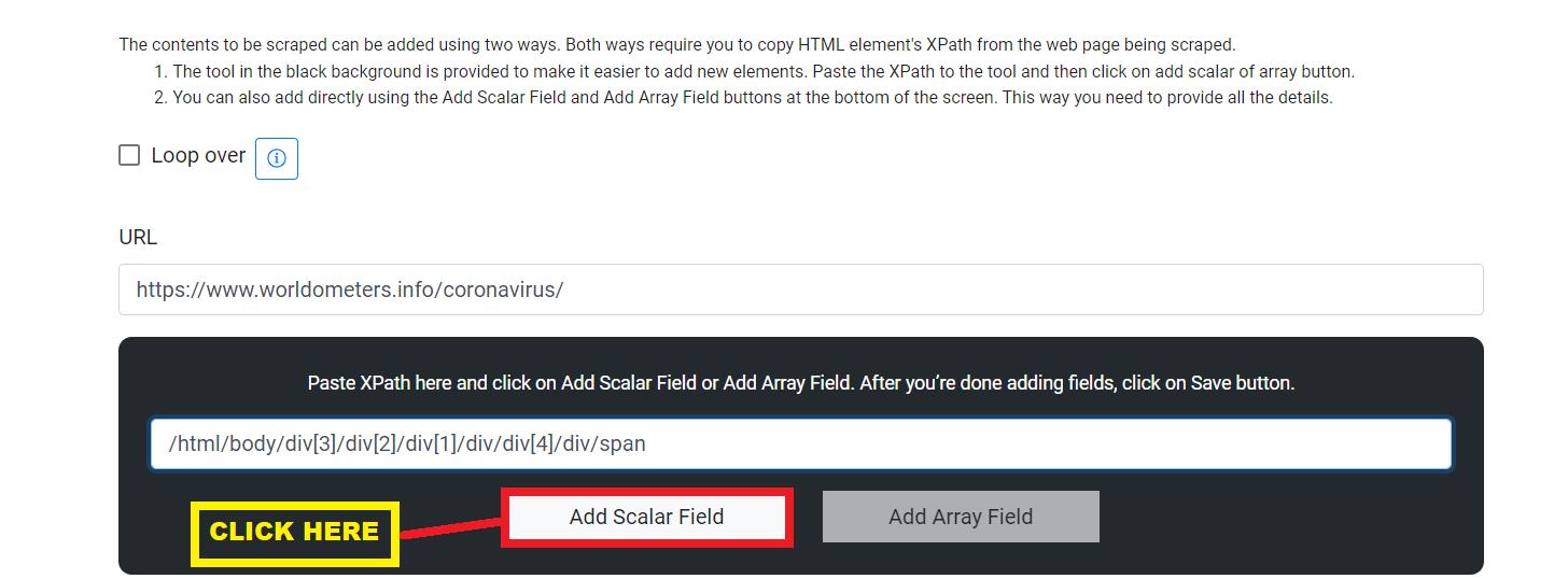 Add Scalar Field