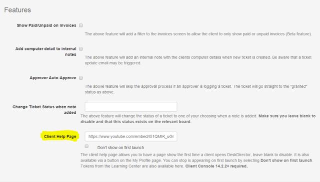 2. Insert URL Into Admin Console