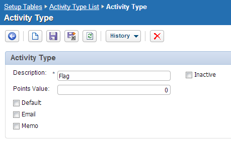Create the Flag Activity Type