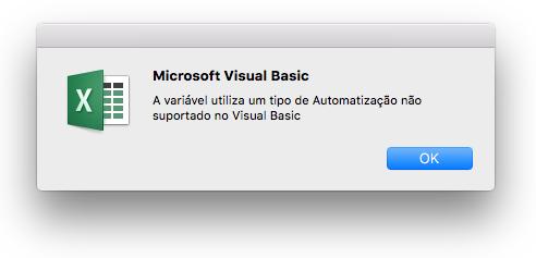 Resultado de imagem para erro excel for mac