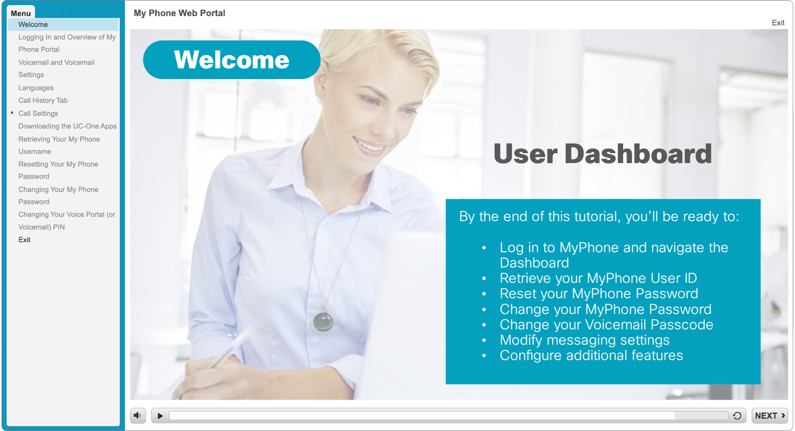 Basic user guide on features and login