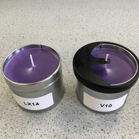 Cooling tin candles