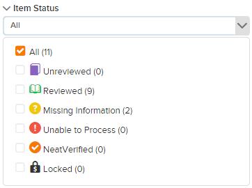 lda filter item status